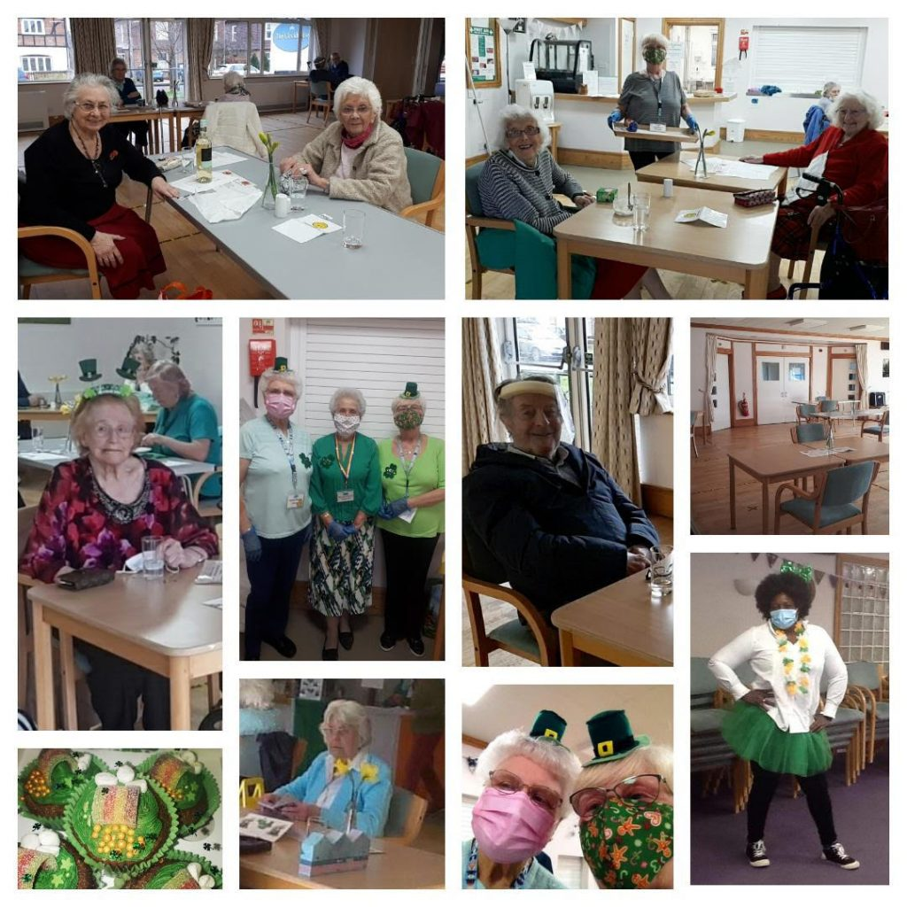 Clockhouse members enjoying St Patrick's Day support group